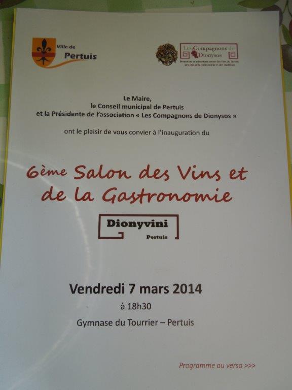 Inauguration du 6 me salon des vins et de la gastronomie for Salon des vins et de la gastronomie